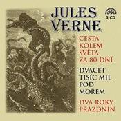Verne: Cesta Kolem Světa Za 80 Dní, Dvacet Tisíc MIL Pod Mořem A Dva Roky Prázdnin 5cdbox Songs
