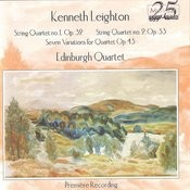 Leighton: Quartets Nos. 1 & 2, Seven Variations For Quartet Op. 43 Songs