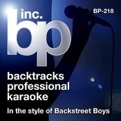 Karaoke - In the style of Backstreet Boys Songs