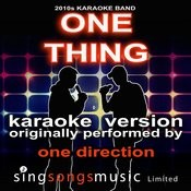 One Thing (Originally Performed By One Direction) [Karaoke Audio Version] Song