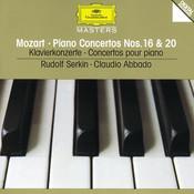 Mozart: Piano Concertos Nos.16 & 20 Songs