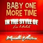 Baby One More Time (In The Style Of Lea Michele) [Karaoke Version] - Single Songs