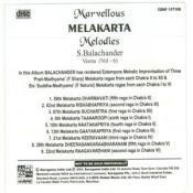 Marvellous Melakarta Melodies Vol 6 Songs