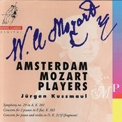 Mozart: Symphony no. 19 in A, Concerto for 2 Pianos in E Flat, Concerto for piano and violin in D Songs
