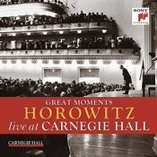 Great Moments of Vladimir Horowitz live at Carnegie Hall Songs