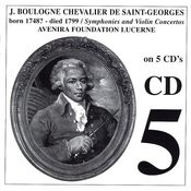 Chevalier de St-Georges: Symphonies & Violin Concertos, CD 5 Songs