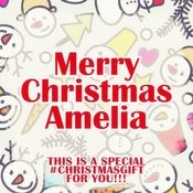 Merry Christmas Amelia - A Special #christmasgift For You Songs