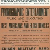 Phono-Cylinders, Vol.1 Songs