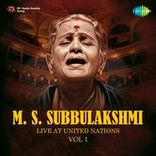 Live At United Nations - M S Subbulakshmi Cd 1  Songs