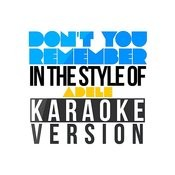 Don't You Remember (In The Style Of Adele) [Karaoke Version] - Single Songs