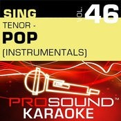 Sing Tenor - Pop, Vol. 46 (Karaoke Performance Tracks) Songs