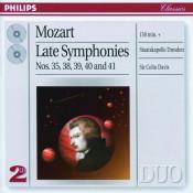 Mozart Symphonies Nos 35 38 39 40 Songs