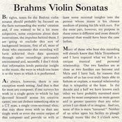 Brahms - The Violin Sonatas Songs