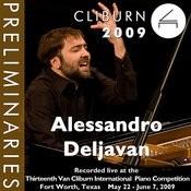 2009 Van Cliburn International Piano Competition: Preliminary Round - Alessandro Deljavan Songs