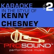 Karaoke - In The Style Of Kenny Chesney, Vol. 2 (Professional Performance Tracks) Songs