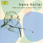 Hans Hotter: Lieder and Opera Scenes 1942-1973 Songs