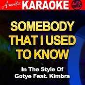 Somebody That I Used To Know (In The Style Of Gotye Feat. Kimbra) Songs