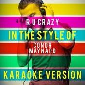 R U Crazy (In The Style Of Conor Maynard) [Karaoke Version] - Single Songs