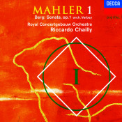 Mahler Symphony No 1 Berg Sonata Op 1 Orch Verbey Songs