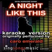 A Night Like This (Originally Performed By Caro Emerald) [Karaoke Audio Version] Songs