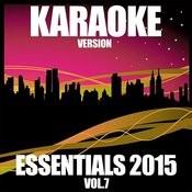 Karaoke Essentials 2015, Vol. 7 Songs
