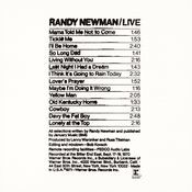 Randy Newman / Live Songs