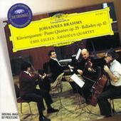 Brahms: Piano Quartet No.1 In G Minor, Op.25; 4 Ballades, Op. 10 Songs