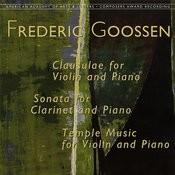 Frederic Goossen: Chamber Works Songs