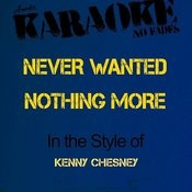 Never Wanted Nothing More (In The Style Of Kenny Chesney) [Karaoke Version] Songs