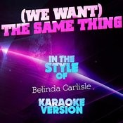 (We Want) The Same Thing (In The Style Of Belinda Carlisle) [Karaoke Version] Song