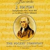 Franz Joseph Haydn. Symphonies No.94 & No.103 Arr. By Johann Peter Salomon Songs