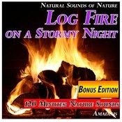 Log Fire On A Stormy Night: Natural Sounds Of Nature: Bonus Edition Songs