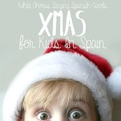Xmas For Kids In Spain. White Chorus Singing Spanish Carols Songs