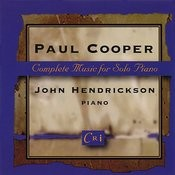 Paul Cooper: Complete Music For Solo Piano Songs