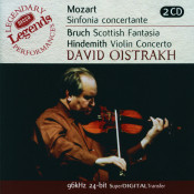 Mozart Sinfonia Concertante Bruch Scottish Fantasia Hindemith Violin Concerto Songs