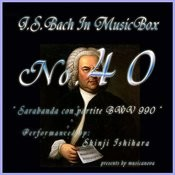 Bach In Musical Box 40/Sarabanda Con Partite In C Bwv 990 Songs